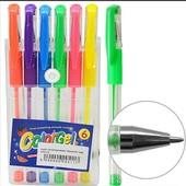 Неоновые гелевые ручки Color It 6шт. Очень яркие. С ягодным ароматом
