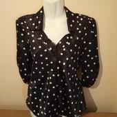 Красивая блуза в горошек, производство США, 10% знижка на УП
