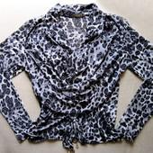 Леопард. Анималистическая полупрозрачная блуза