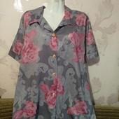 Красивая нежная блуза с Англии на шикарные формы✓ Пог.62-65✓
