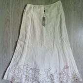 Фирменная новая красивая летняя юбка-макси из льна р.12-14