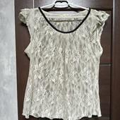 Фирменная красивая ажурная блуза в хорошем состоянии р.16