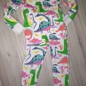 Пижама хлопок 3-4года замеры на фото