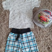 Три речі в лоті ( футболка, шорти, панамка). Вік 1-3 роки
