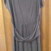 Красивое натуральное платье благородного цвета Р 52-54