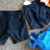 чорні класичні плавки-шортики для хлопчика 74-80 Бетмен