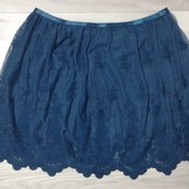 Красивая фирменная ажурная юбка размер 14-18