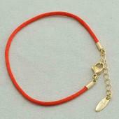 Браслет Xuping красная нить позолота 18К
