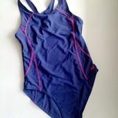 13-14 лет сплошной синий купальник для плавания, бассейна in side