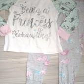 Пижама хлопок на девочку 4года замеры на фото