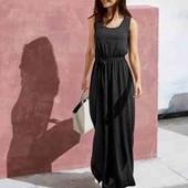 шикарное черное платье сарафан в пол Эсмара 36/38 европейский, наш 42/44 рр