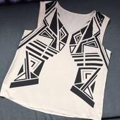 Нарядная блуза шифоновая с декором