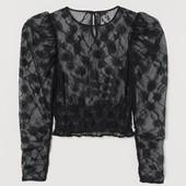 Качество! Красивая кружевная блуза от бренда H&M в новом состоянии