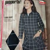 Pepperts стильная рубашка туника на кнопках 128 см