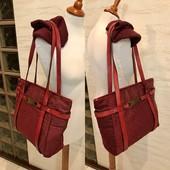 ❤️Pierre Cardin (оригинал)❤️Добротная стильная сумка-тоут! Текстиль + натуральная кожа!