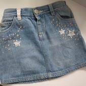 Классная джинсовая юбка на девочку 2-3 года, будет дольше