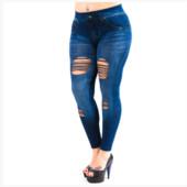 Демисезонные лосины отличного качества эмитация под джинсы рванки!Размер 48-54!Укр почта 5% скидка!