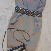 Супер лот! Платье + кожаная сумочка! Пог 44