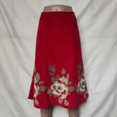 Новая вельветовая юбка с цветами, а-образный фасон Monsoon
