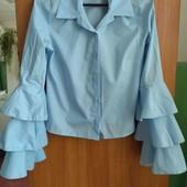 Стильная лёгкая рубашка размер 10