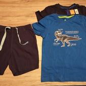 Новая партия! 2 футболки + шорты бермуды на мальчика 98-104 см 2-4 года