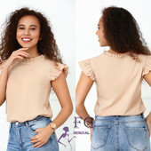 Летняя женская блуза с воланами
