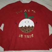 Новогодний свитер 12-13лет замеры на фото