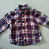 Рубашка 9 -12 мес