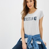 Комфортная футболка из био-хлопка от Mustang, 100% оригинал , размер ХС=38-40
