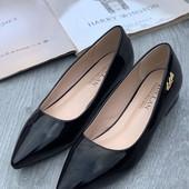 Женские туфли балетки с острым носом 36 37 38