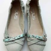 мягкие кожаные идеальные балетки,38 р,стелька 24 см.