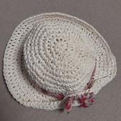 Летняя шляпка для маленькой модницы, ОГ 45-46 см