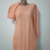 Мой пролет Новое теплое платье размер Л замеры на фото