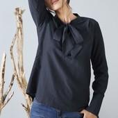 Воздушная Шелковая блузка с лентами (40% шелк) Tchibo (германия ) размер 40 евро=46-48