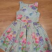 Яркое платье для девочки ,по бирке 7лет