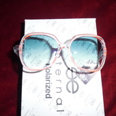 Красивые солнцезащитные очки Eternal. 100% протектор защиты. Прозрчная оправа с кораллом