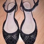 летние туфли босоножки балетки в камнях