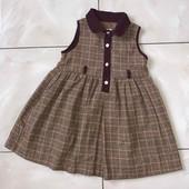 Стоп )стильное❤ Фирменное клетчатое платье-сарафан,1-2 года❤ Много лотов!