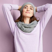 ☘ Базовий, універсальний снуд- шарф, DryActive Plus від Tchibo (Німеччина), розмір універсальний