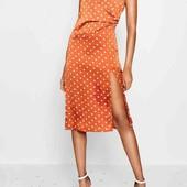 шикарное новое платье сатин boohoo pp 12,ml