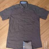 Качественная рубашка с коротким рукавом, Tchibo (Германия), ворот 39/40