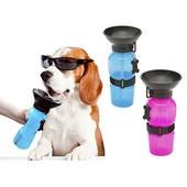 Переносная, дорожная поилка для собак dog water bottle 550 мл