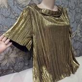 Нарядная блуза цвета золото, River Island, p. 2XL