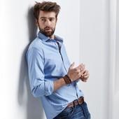 Стильная рубашка в стиле Oxford tсм Tchibo Размер L 52/54 евро.Германия.