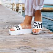 Шлепанцы super girl белые 40=24.3 см размер. на танкетке, силиконовые, пляжные