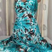 платье с цветами котонт