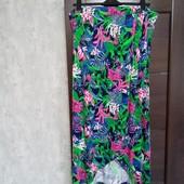 Всё по 120! Фирменная красивая вискозная трикотажная юбка-макси в состоянии новой вещи р.22-26
