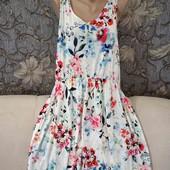 Новое, вискозное летнее платье в цветочный принт, H&M, p. XL