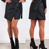 Классная юбка кожзам,отличное качество 42 размер