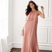 ❤️Esmara Германия❤️стильное шифоновое платье пудровая роза евро 44